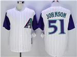 Arizona Diamondbacks #51 Randy Johnson Tan Cooperstown Cool Base Team Jersey