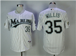 Florida Marlins #35 Dontrelle Willis White Pinstripe 2003 World Series Champions Jersey