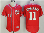 Washington Nationals #11 Ryan Zimmerman Red Flex Base Jersey