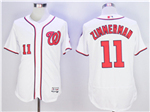 Washington Nationals #11 Ryan Zimmerman White Flex Base Jersey