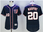 Washington Nationals #20 Daniel Murphy Navy Blue Flex Base Jersey