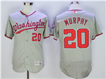 Washington Nationals #20 Daniel Murphy Grey Flex Base Jersey