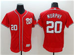 Washington Nationals #20 Daniel Murphy Red Flex Base Jersey