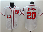 Washington Nationals #20 Daniel Murphy White Flex Base Jersey