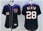 Washington Nationals #28 Jayson Werth Blue Flex Base Jersey