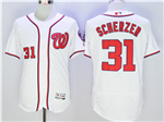 Washington Nationals #31 Max Scherzer White Flex Base Jersey