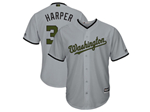 Washington Nationals #34 Bryce Harper Gray 2018 Memorial Day Cool Base Jersey