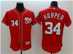 Washington Nationals #34 Bryce Harper Red Flex Base Jersey