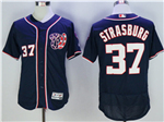 Washington Nationals #37 Stephen Strasburg Navy Blue Flex Base Jersey