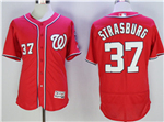 Washington Nationals #37 Stephen Strasburg Red Flex Base Jersey
