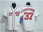 Washington Nationals #37 Stephen Strasburg White Flex Base Jersey