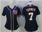 Washington Nationals #7 Trea Turner Women's Navy Blue Cool Base Jersey