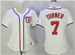 Washington Nationals #7 Trea Turner Women's 2017 White Cool Base Jersey