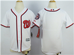 Washington Nationals Youth White Cool Base Team Jersey