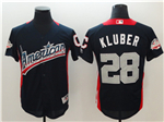 American League #28 Corey Kluber Navy 2018 MLB All Star Game Home Run Derby Jersey