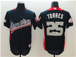 American League #25 Gleyber Torres Navy 2018 MLB All Star Game Home Run Derby Jersey