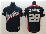 American League #28 J.D. Martinez Navy 2018 MLB All Star Game Home Run Derby Jersey