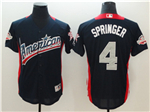 American League #4 George Springer Navy 2018 MLB All Star Game Home Run Derby Jersey