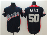 American League #50 Mookie Betts Navy 2018 MLB All Star Game Home Run Derby Jersey