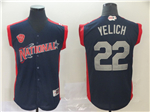 National League #22 Christian Yelich Navy 2019 All Star Game Workout Jersey