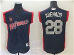 National League #28 Nolan Arenado Navy 2019 All Star Game Workout Jersey