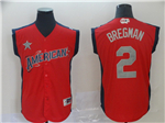 American League #2 Alex Bregman Red 2019 All Star Game Workout Jersey
