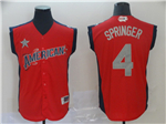 American League #4 George Springer Red 2019 All Star Game Workout Jersey
