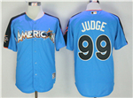 American League #99 Aaron Judge Blue 2017 MLB All-Star Game Home Run Derby Jersey