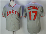 Los Angeles Angels #17 Shohei Ohtani Gray Cool Base Jersey