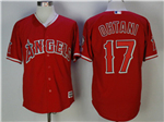 Los Angeles Angels #17 Shohei Ohtani Red Cool Base Jersey