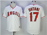 Los Angeles Angels #17 Shohei Ohtani White Cool Base Jersey