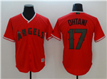 Los Angeles Angels #17 Shohei Ohtani Red 2018 Memorial Day Cool Base Jersey