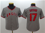 Los Angeles Angels #17 Shohei Ohtani Youth Gray Cool Base Jersey