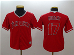 Los Angeles Angels #17 Shohei Ohtani Youth Red Cool Base Jersey