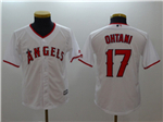 Los Angeles Angels #17 Shohei Ohtani Youth White Cool Base Jersey
