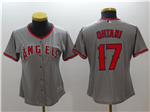Los Angeles Angels #17 Shohei Ohtani Women's Gray Cool Base Jersey
