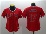 Los Angeles Angels #17 Shohei Ohtani Women's Red Cool Base Jersey