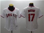 Los Angeles Angels #17 Shohei Ohtani Women's White Cool Base Jersey