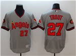 Los Angeles Angels #27 Mike Trout Gray Cooperstown Flex Base Jersey