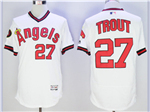 Los Angeles Angels of Anaheim #27 Mike Trout White Cooperstown Flex Base Jersey