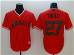 Los Angeles Angels #27 Mike Trout Red 2018 Memorial Day Cool Base Team Jersey