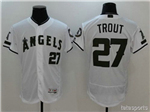 Los Angeles Angels of Anaheim #27 Mike Trout White 2017 Memorial Day Flex Base Jersey