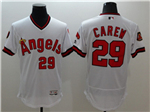 Los Angeles Angels of Anaheim #29 Rod Carew White Cooperstown Flex Base Jersey
