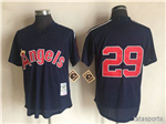 California Angels #29 Rod Carew Navy Cooperstown Mesh Batting Practice Jersey
