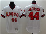 Los Angeles Angels of Anaheim #44 Reggie Jackson White Cooperstown Flex Base Jersey