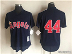 California Angels #44 Reggie Jackson Navy Cooperstown Mesh Batting Practice Jersey