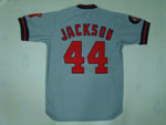 California Angels #44 Reggie Jackson Throwback Gray Jersey