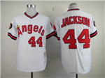 California Angels #44 Reggie Jackson 1982 Throwback White Jersey
