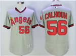 Los Angeles Angels #56 Kole Calhoun Gray Cooperstown Flex Base Jersey
