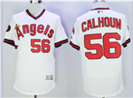 Los Angeles Angels of Anaheim #56 Kole Calhoun White Cooperstown Flex Base Jersey